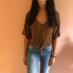 Forever 21 polka dot blouse
